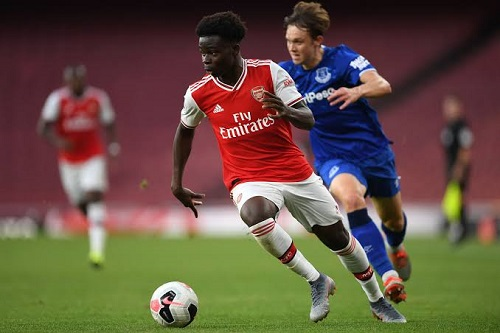 Bukayo Saka in action